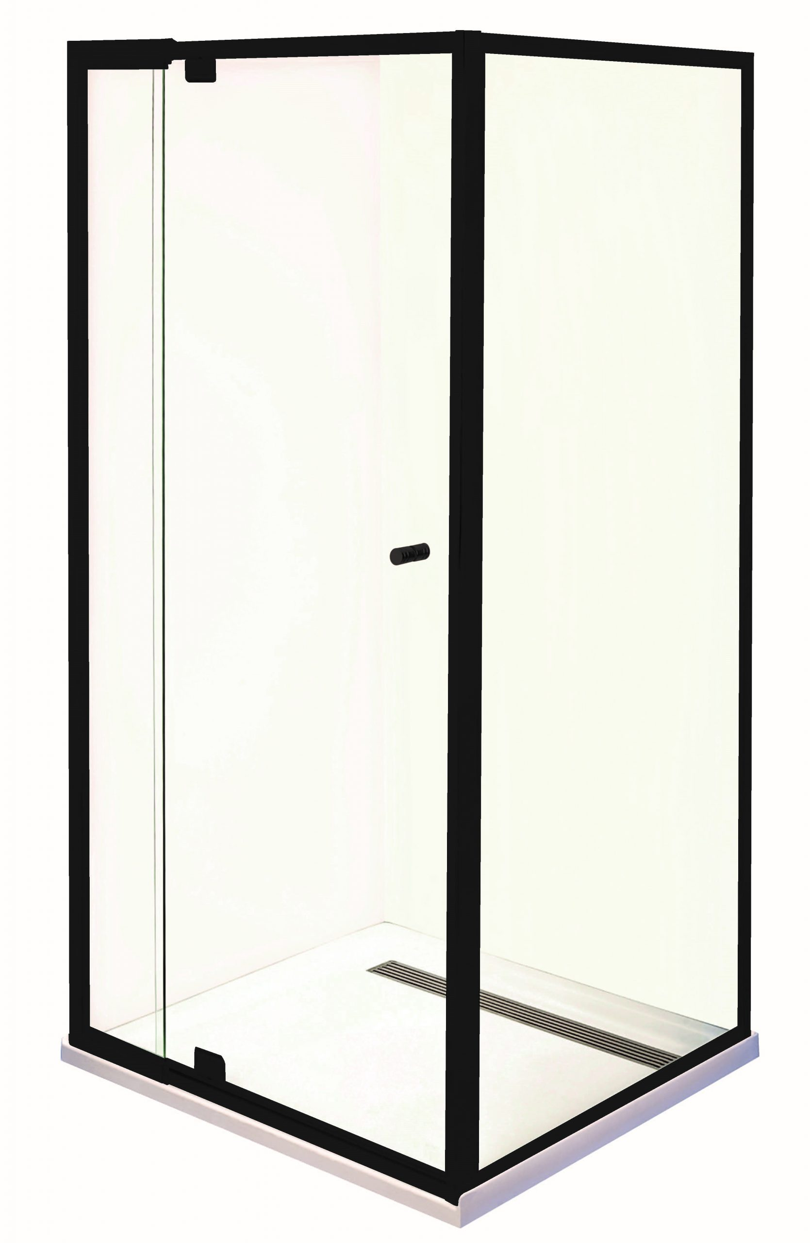 Smart Shower Screen Matte Black