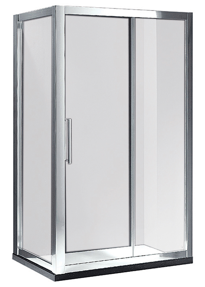 Argent Sliding Shower Screen