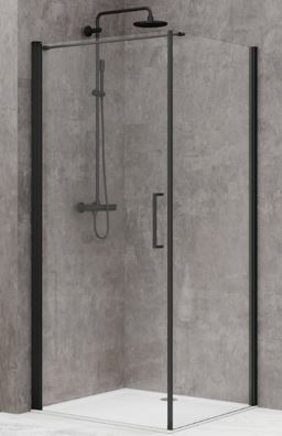 Hiline Shower Screen – Matte Black