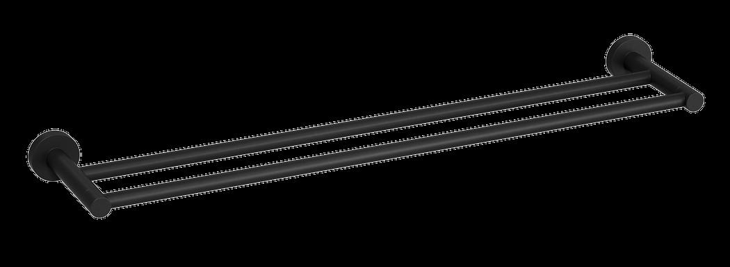 Double Towel Rail 600mm Matte Black