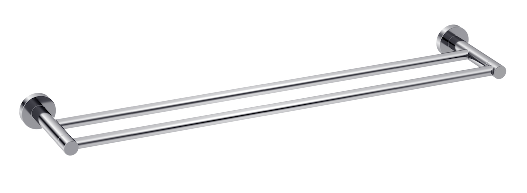 Double Towel Rail 600mm Chrome