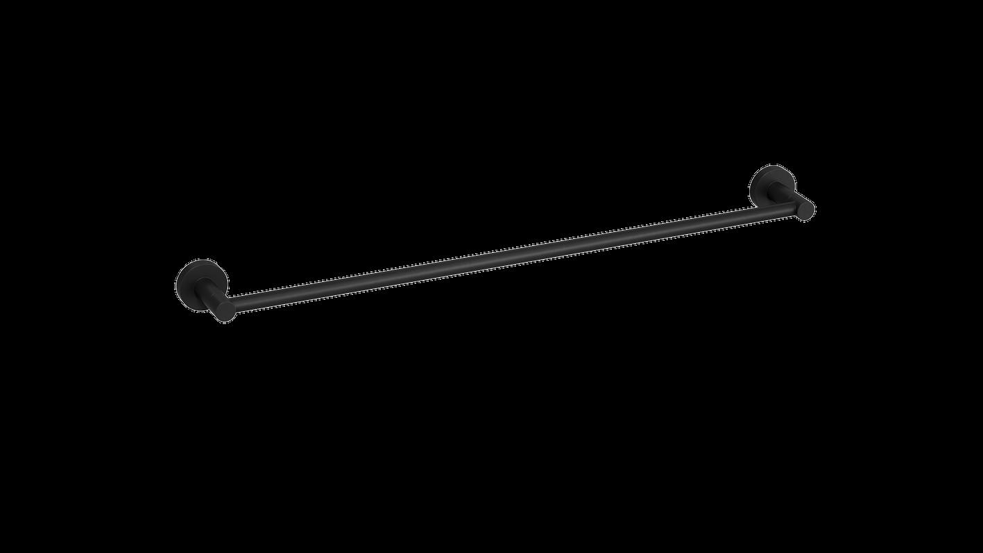 Single Towel Rail Matte Black