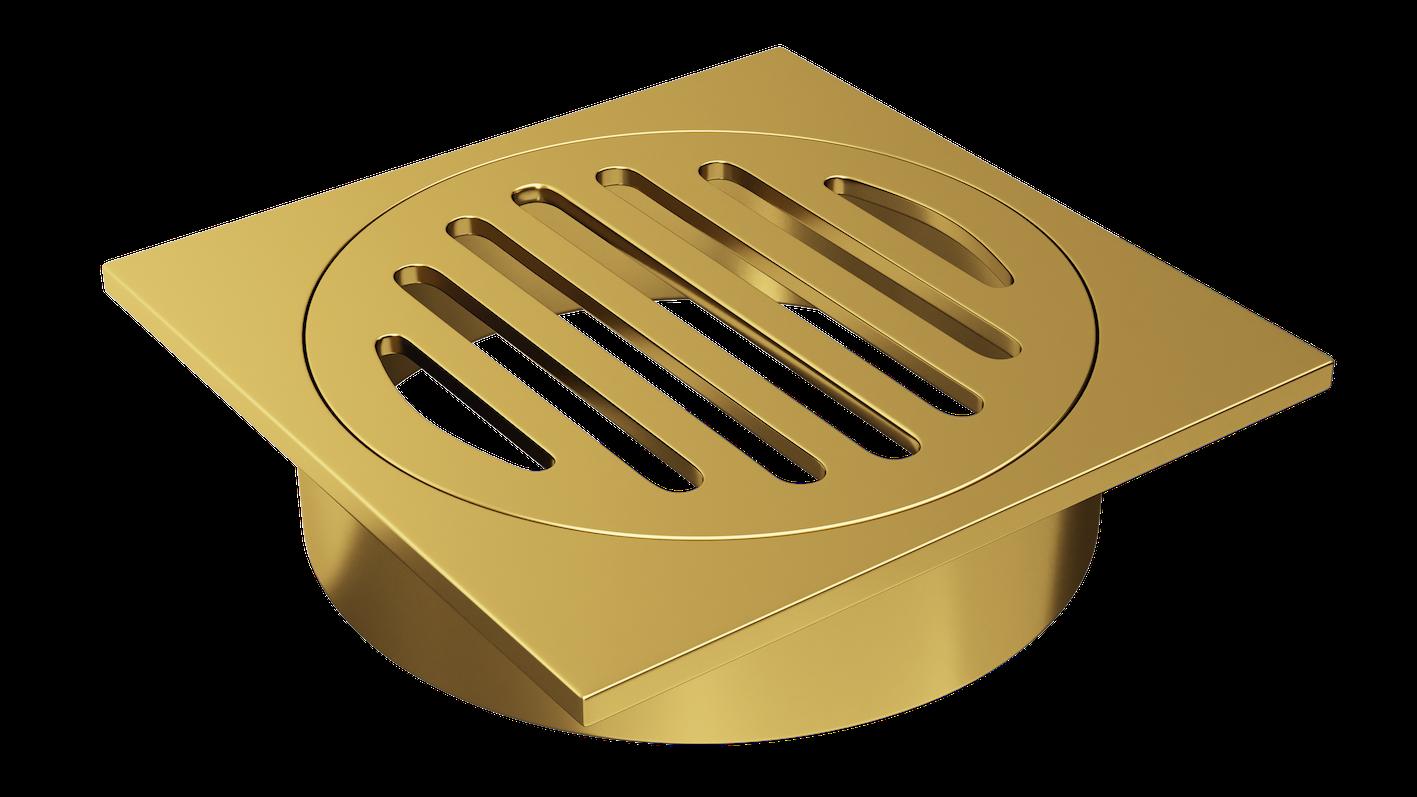 Floor Grate 100mm Gold