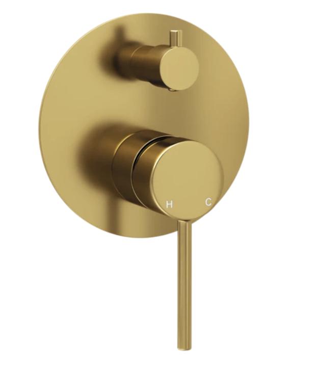 Diverter Mixer PVD Gold
